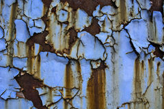 Old paint on metal Royalty Free Stock Image