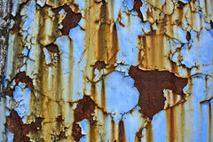 Old paint on metal Stock Photo