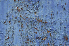 Old paint on the rusty metal. Stock Photos