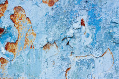 Old Paint on Rusty Metal Royalty Free Stock Photos