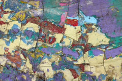 Old paint texture. On draft vintage surface. Close up view Stock Image