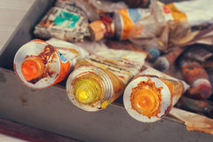Old Paint tubes Stock Image