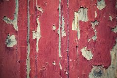 Old paint on a wooden surface Stock Photo