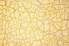 Old paint on yellow door Royalty Free Stock Photos