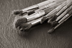 Old paintbrushes Royalty Free Stock Images