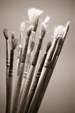 Old paintbrushes Royalty Free Stock Photography
