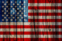 Old Painted American Flag Royalty Free Stock Photography