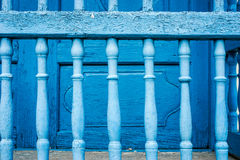 Old painted Blue bars Royalty Free Stock Image