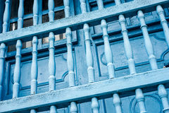 Old painted Blue bars Stock Photography