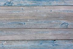 Old painted blue colored wood background, abstract wood background for design. Royalty Free Stock Image