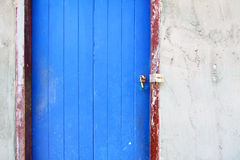 Old painted blue door Royalty Free Stock Images