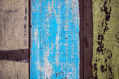 Old painted boards. The background of the old painted boards stock photo