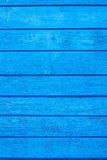 The old painted boards of blue color Stock Photography