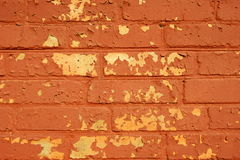 Old painted brick wall. Royalty Free Stock Images