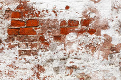 Old painted brick wall Stock Photography