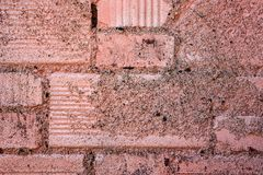 Old painted brick wall Stock Images