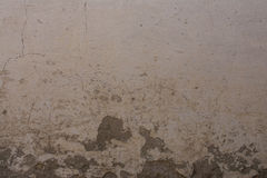 Old painted brick wall with plaster and decal Royalty Free Stock Photo