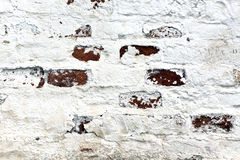 Old painted brick wall surface. Stock Image