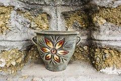 Old Painted Ceramic Vase Stock Photo
