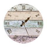 Old_painted_clock 皇族释放例证