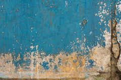 Old painted concrete with decal Royalty Free Stock Photography