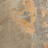 Old painted concrete wall fragment Stock Photography