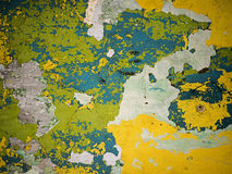 Old painted concrete wall. Horizontal shot Royalty Free Stock Photo