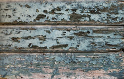 Old painted cracked blue wooden texture. Vintage rustic style. Natural surface, background and wallpaper Royalty Free Stock Photo