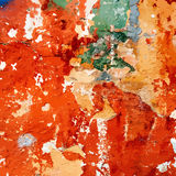 Old Painted Distress Wall Royalty Free Stock Photos