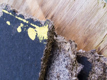 Old Painted Fiberboard Stock Photography