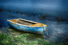 Old painted fishing boat Royalty Free Stock Photo
