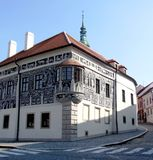 Old painted house in Trebic Royalty Free Stock Images