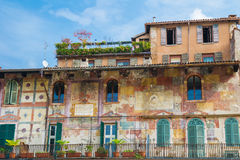 Old painted house Royalty Free Stock Image