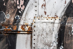 Old painted iron plate Royalty Free Stock Images