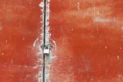 Old painted metal surface Stock Images