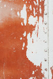 Old painted metal surface Stock Photo