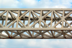 Old painted metal truss royalty free stock photos