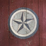 Old Painted Star on a Barn Royalty Free Stock Image