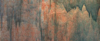 Old painted texture of metal wall. Copy space royalty free stock photos