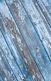 Old painted texture vintage wood background with peeling paint. Painted weathered plain teal blue and white Rustic Wood stock image