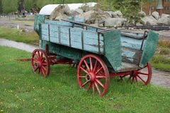 An old painted wagon Royalty Free Stock Image