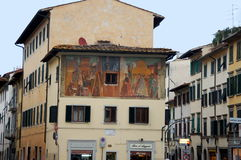 Old painted wall in city of Florence, Italy Royalty Free Stock Image