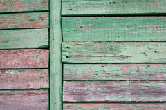 Old painted wall of wooden planks Royalty Free Stock Photography