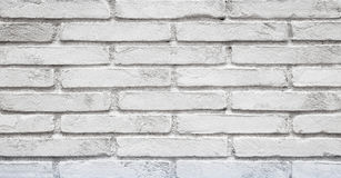 Old Painted White brick wall Background Stock Photo