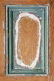 Old painted wood background with frame Royalty Free Stock Photos