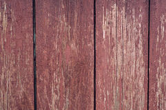 Old painted wooden board. Old painted wooden planks shabby red Royalty Free Stock Images