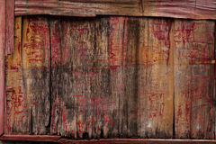 Old painted wooden board. Royalty Free Stock Image