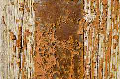 Old painted wooden door background Stock Photo