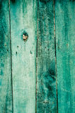 Old painted wooden fence background Stock Photography