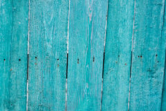 Old painted wooden fence background Stock Image